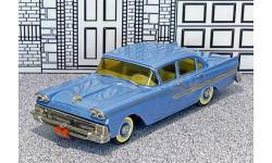 SW 017 Small  Wheels 1/43 Ford Custom 300 Hard Top 1958 blue