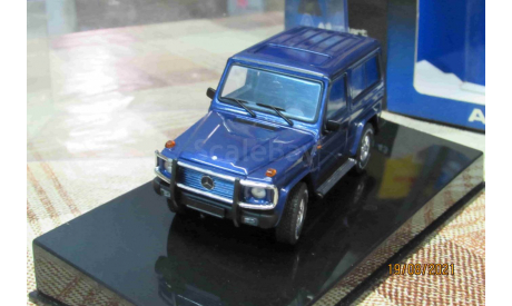 56101 AutoArt 1/43 Mercedes Benz G-wagon SWB 80's-90's blue met, масштабная модель, scale43
