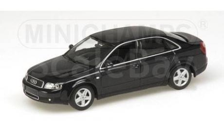 430010101 Minichamps 1/43 Audi A4 2000 Blue Metallic, масштабная модель, 1:43