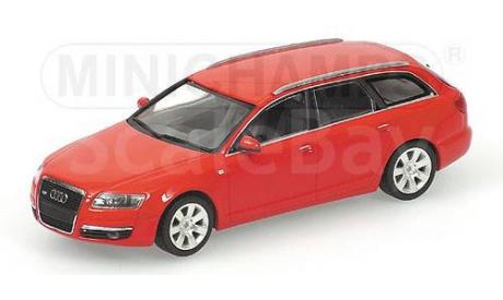 400013010 Minichamps 1/43 Audi A6 Avant 2004 red, масштабная модель, 1:43