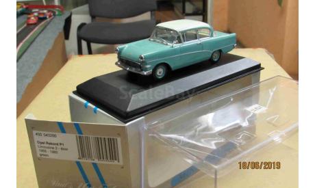 430 043200Opel Rekord P1 limousine 2-door 1958-60 green, масштабная модель, Minichamps, scale43