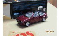 1094 Schabak 1/43 Ford escort Cabrio dark  red, масштабная модель, scale43