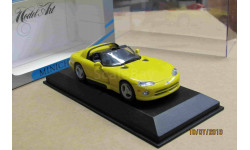 430 144030 Minichamps 1/43 Dodge Viper Cabriolet yellow, масштабная модель, scale43
