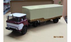1322AVDк Сборка из  набора AVD 1/43 Седельный тягач КАЗ-608(четыре фары)+ОДАЗ-794(Автолегенды), масштабная модель, scale43
