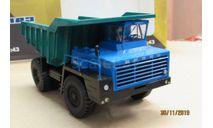 102354 Автоистория(Дилерские Белаз) 1/43 Белаз 540А синий/зелёный, масштабная модель, scale43
