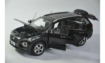dealer CMF 1/18 Hyundai SantaFe 2019 black, масштабная модель, scale18