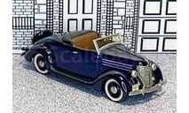 US 06 Mini Marque '43' 1/43 Ford V8 2-door Conv.Top Down 1936 dark  blue, масштабная модель, scale43