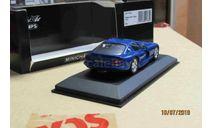 430 144021 Minichamps 1/43 Dodge Viper Coupe 1993 blue, масштабная модель, 1:43