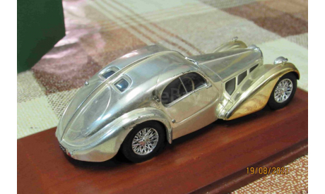 CR07 Altaya 1/43 Bugatti 57SC Coupe Atlantic gold, масштабная модель, scale43