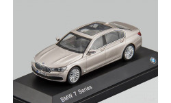 BMW 7-Series NEW 2016г. (G12) Jadi / Paragon 1:43 БМВ 7 бежевый мет./ BEIGE, масштабная модель, 1/43