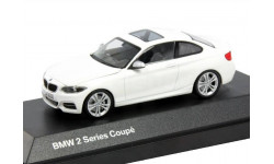 BMW 2er Coupe F22 Minichamps 1:43 --- БМВ 2-series 2014 купе  2дв. white  / белый