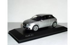 Audi A1 3d (Typ 8X) 2010 Kyosho 1:43 --- Ауди A1 СЕРЕБРО, масштабная модель, 1/43