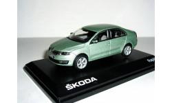 Skoda Rapid 2012г  Abrex 1:43 --- Шкода Рапид 2014 ...  серебристо-зелёная / light silver-green