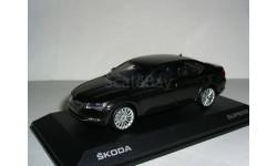 Дефект. Skoda Superb B8 (Superb-III) limousine 1:43 Шкода Суперб-3 - 2015г седан (лифтбэк) - ЧЁРНАЯ / BLACK !, масштабная модель, i-Scale, scale43