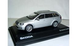 Skoda Octavia combi A7 1/43 Abrex 2013г --- Шкода Октавия-3 комби ... серебристая