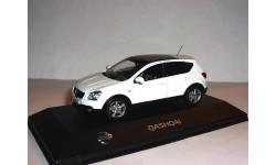 Nissan Qashqai LHD 2007г J-collection 1:43 Ниссан Кашкай ЛЕВЫЙ РУЛЬ! - БЕЛЫЙ.