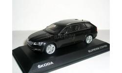 Skoda Superb B8 (Superb-III) combi 1:43 Шкода Суперб-3 - 2015г универсал ЧЁРНЫЙ, масштабная модель, 1/43, i-Scale