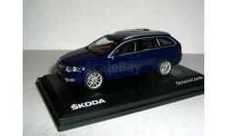 Скирну! Skoda Octavia A7 combi NEW 2013г 1:43 Abrex Шкода Октавия-3 комби т.синяя!