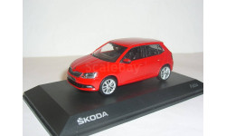 Skoda Fabia MkIII hatch 2014 i-Scale 1:43 - - - Шкода Фабия-3 красная / RED, масштабная модель, 1/43