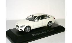 Уценка! - Mercedes Benz C-class 2014г W205  Norev 1/43 - Мерседес Ц-класс седан БЕЛЫЙ! / white  1:43