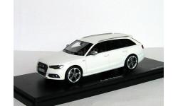 АКЦИЯ! СКИНУ! См.текст! *** Audi S6 NEW Avant AWD 2013 Schuco-Pro 1/43  ---  Ауди универсал «горячая» Ауди БЕЛАЯ! 1:43