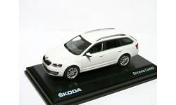 Skoda Octavia A7 combi NEW 2013г 1/43 Abrex Шкода Октавия-3 комби . белая / white 1:43
