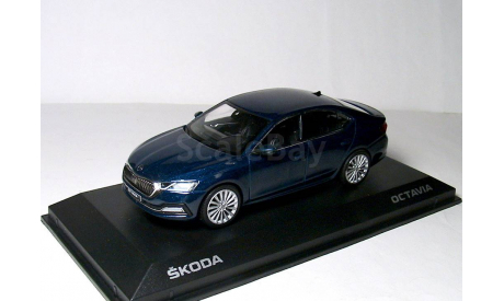 Skoda Octavia A8 NEW Norev 1/43 Шкода Октавия 2021г Mk4 т.синий металлик / blue 1:43, масштабная модель, scale43, iScale, Škoda