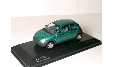 Ford Ka Mk1 Minichamps 1/43 Форд Ка 1997г 1:43 редкий RAR зелёный green, масштабная модель, scale43