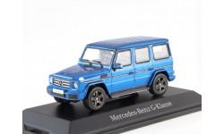 Mercedes-Benz G-class 2016г. G463 (W463) Norev 1/43 blue-brilliant met.- Мерседес Гелендваген 1:43 ярко-голубой мет.  4х4