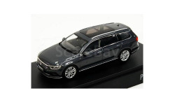Volkswagen Passat B8 Variant 2015г Herpa 1:43  VW -- grey-blue ---  Фольксваген Пассат -8 универсал т.серо-голубой