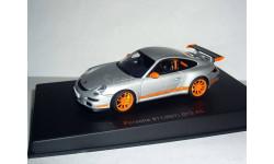 Porsche 911 (997) GT3 RS AutoArt 1:43 --- Порше ГТ-3 АвтоАрт СЕРЕБРИСТО-ОРАНЖЕВЫЙ, масштабная модель, 1/43