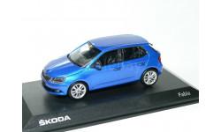 Skoda Fabia MkIII hatch 2014 i-Scale 1:43 - - - Шкода Фабия-3 голубая / BLUE
