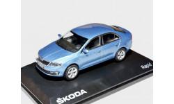 Skoda Rapid 2012г Abrex 1:43 --- Шкода Рапид ...  светло-серебристо-ГОЛУБАЯ / Light blue Metallic