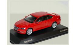 Skoda Superb B8 (Superb-III - NEW) 1/43 - Шкода Суперб-3 - 2015г   1:43 Красный, масштабная модель, i-Scale