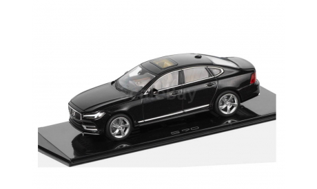 Volvo S90 NEW 2017 /2018г Norev 1/43 BLACK! - Вольво эС90 седан ЧЁРНАЯ  1:43, масштабная модель, Spark