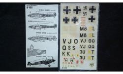 Декаль для модели Messerschmitt Me-110D, фототравление, декали, краски, материалы, 1:72, 1/72, Decal
