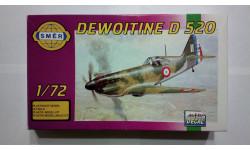 Модель самолета Dewoitine D-520, сборные модели авиации, 1:72, 1/72, Smer