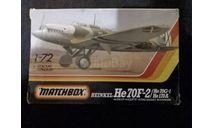 Сборная модель Heinkel He-70, сборные модели авиации, Matchbox, 1:72, 1/72