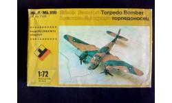 Модель бомбардировщика Bristol Beaufort, сборные модели авиации, Novo, scale72