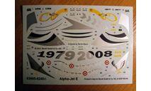 Декаль для модели самолёта Alpha Jet, фототравление, декали, краски, материалы, Revell, scale72