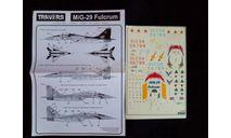 Декаль для модели самолета Миг-29, фототравление, декали, краски, материалы, Travers, scale72