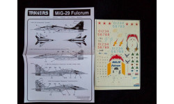 Декаль для модели самолета Миг-29