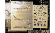 Декаль для модели самолета A-3 Skywarrior, фототравление, декали, краски, материалы, Aeromaster, scale72