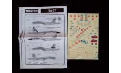 Декаль для модели самолета Су-27