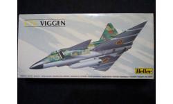 Сборная модель J-37 Viggen, сборные модели авиации, Heller, 1:72, 1/72