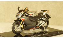 Aprilia RSV 1000R Silver/Black, Atlas 1:24, масштабная модель мотоцикла, scale24