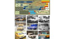 ИЖ 412, 2125, 2715,Декаль, фототравление, декали, краски, материалы, 1:43, 1/43, Modellux