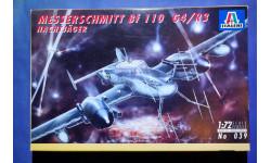 Модель ночного истребителя Messerschmitt Bf 110 G-4/R-3, сборные модели авиации, 1:72, 1/72, Italeri