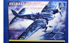 Модель бомбардировщика Heinkel He-111 H22 с Фау-1, сборные модели авиации, 1:72, 1/72, Italeri