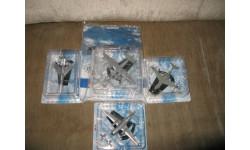 легендарные самолёты Лот из 4 штук, масштабные модели авиации, 1:43, 1/43, DeAgostini (военная серия)